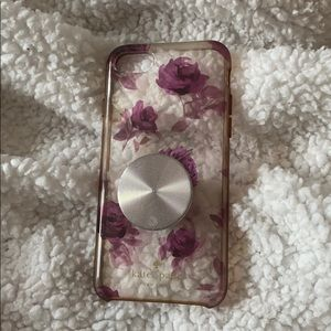 Used Kate Spade iPhone 7 or 8 case. With popsocket